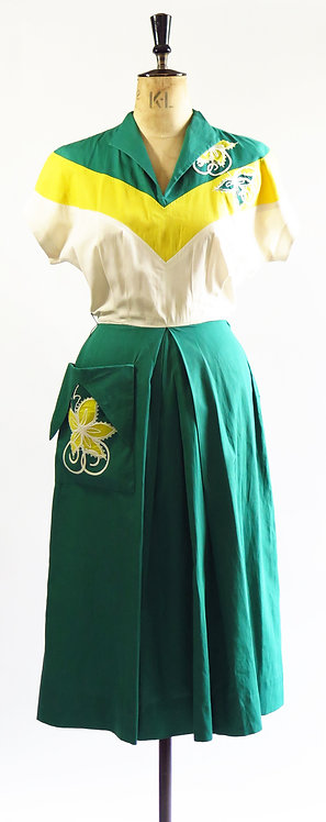 1950s With Pocket Day Dress