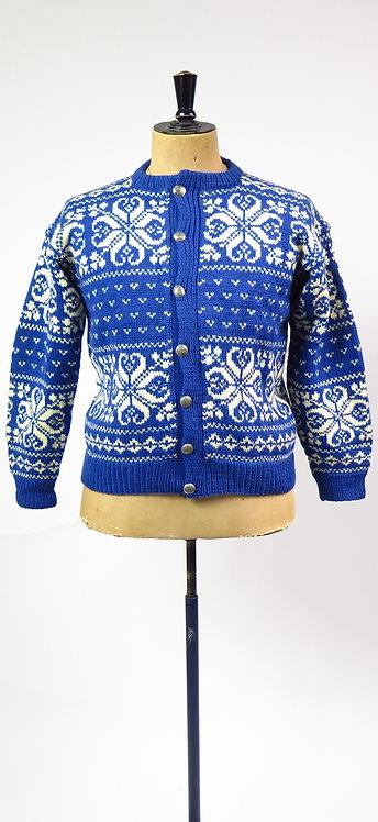 1960-70s Norwegian Hand Knitted Cardigan