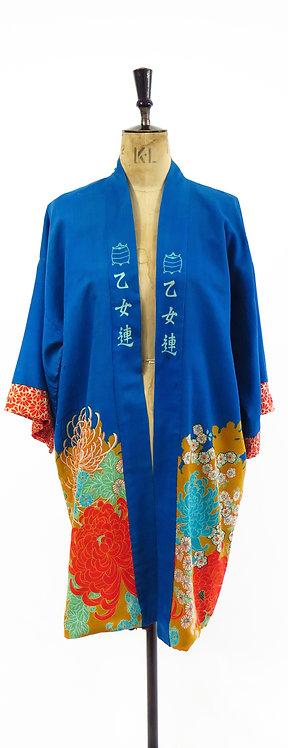 RARE 1920s Flapper Wool Kimono Haori Jacket