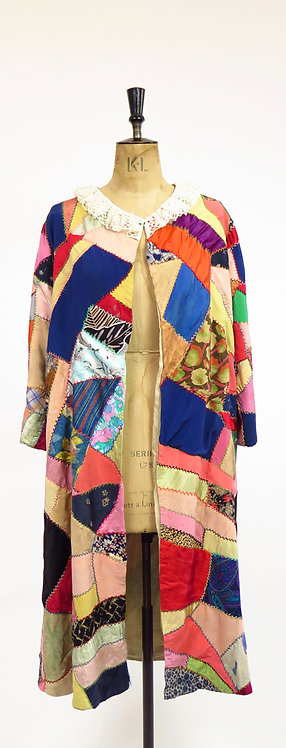 """1920s Patchwork """" Make do and mend"""" Coat"""