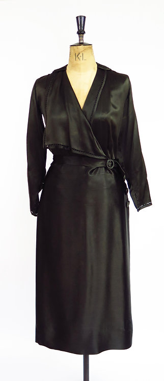 1920s Hand Made Silk Dress