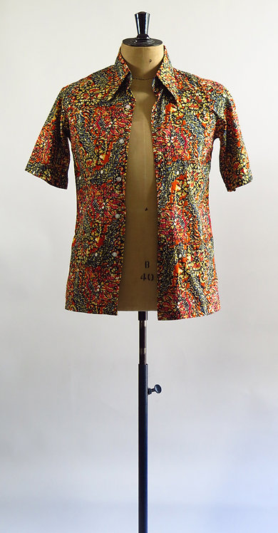 1970's Batik Shirt  S