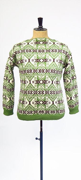 1970s Hand Knitted Norwegian Scandi Style Jumper