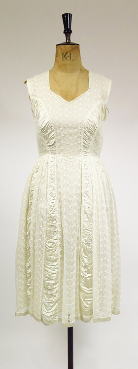 Original 1950s Lace And Satin Wedding Dress