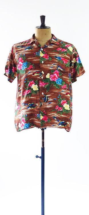 Made In Japan 1940s Luan Sportswear Hawaiian Shirt