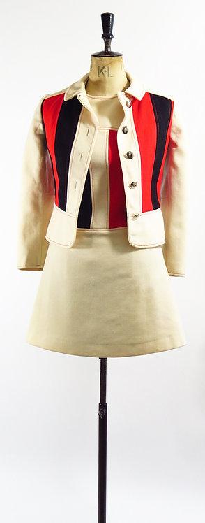 1960s Louis  Feraud Paris Dress and Jacket Suit