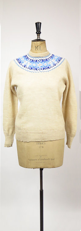 1970s Does The 40's Knitted Ski Jumper