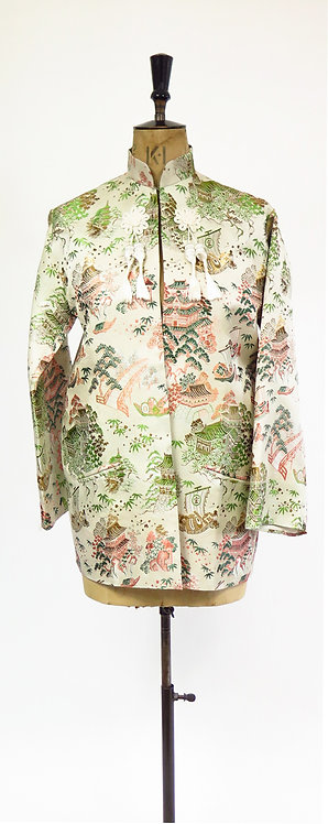Vintage 1970s Chinese Embroidered Smoking Jacket