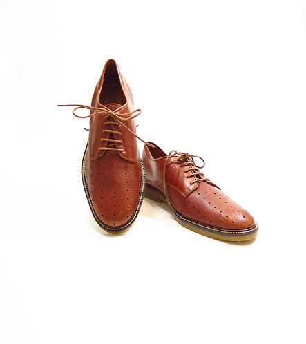 Sessun Brown Leather Brogues