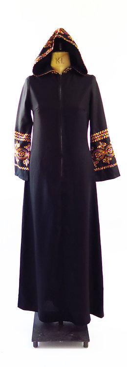 1970s Hooded Maxi Dress