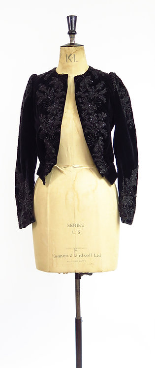 Antique Victorian Beaded Velvet Jacket