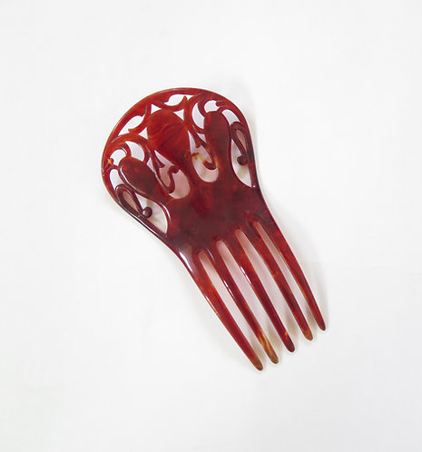 1920s Deco Celluloid Hair Comb