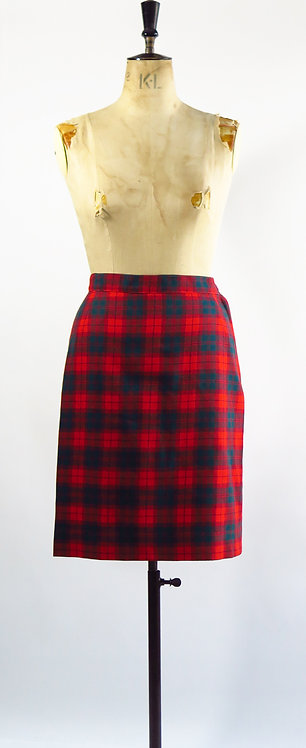 1940s Red Checked Skirt