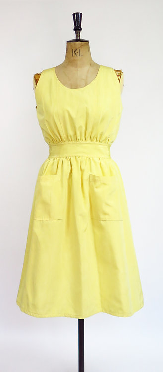 1950s Dress With Cut Out Back And Pockets