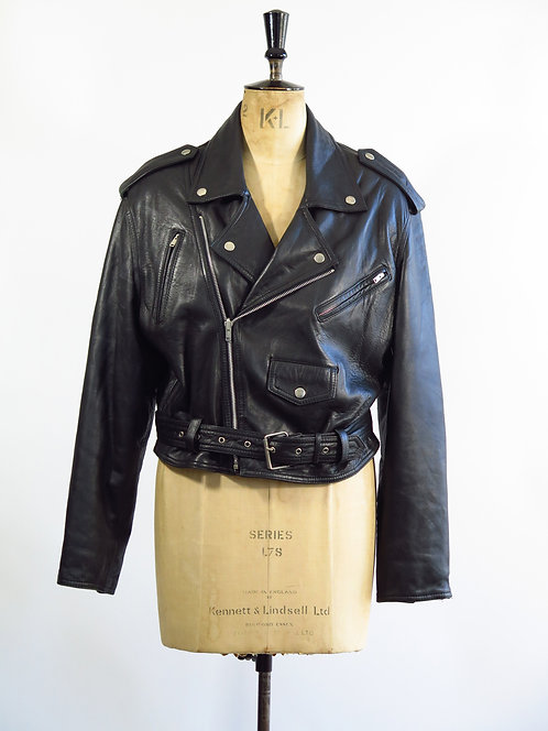 1990s Leather Biker Jacket