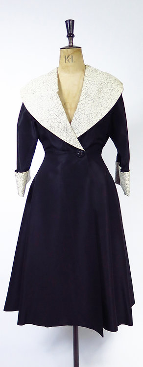 1950s Evening Dress  / Frock Coat