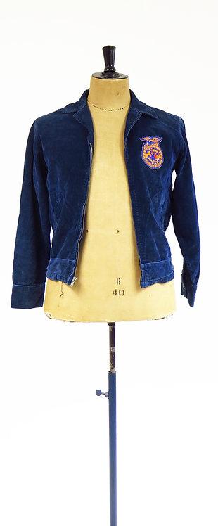 1960s Blue Cord Workwear Jacket