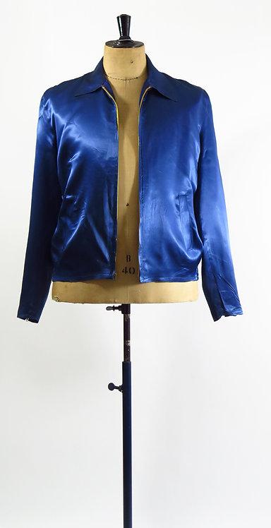1940s Satin Souvenir Tour Jacket