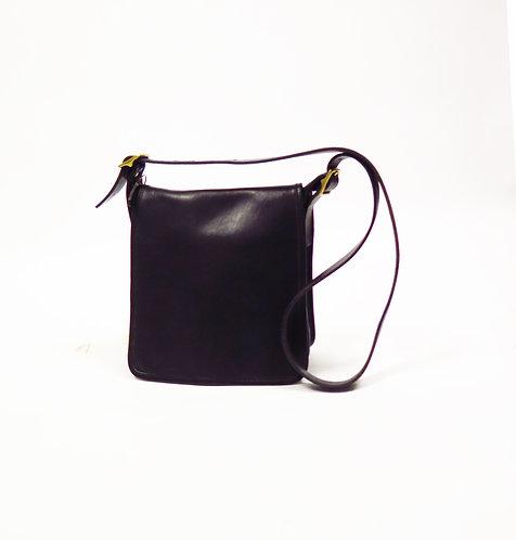 Coach Designer 1990s Black Leather Shoulder Handbag