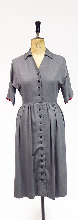 Vintage 1950s Grey Day Dress