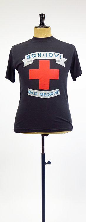 "1980s Bon Jovi ""The Boys Are Back"" Band  Original 1989 WASP T-Shirt"