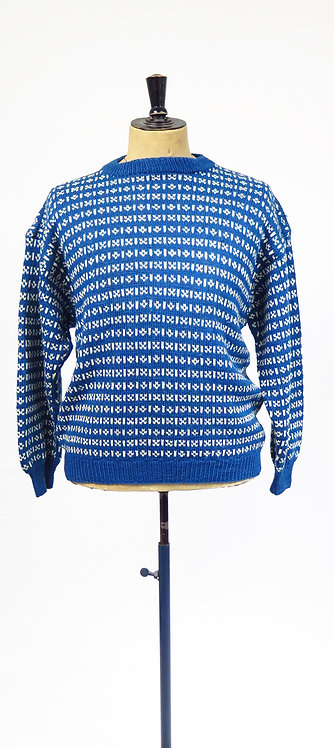 1960-70s Hand knitted Scandi Norwegian Fisherman Style Jumper