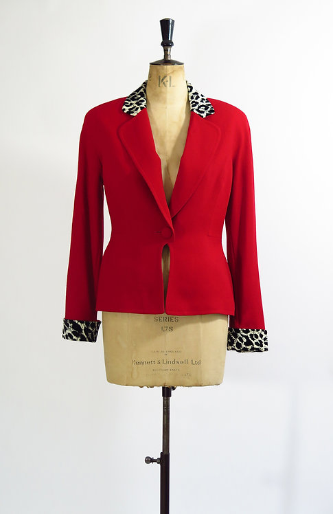 Christian Dior Red SuitJacket