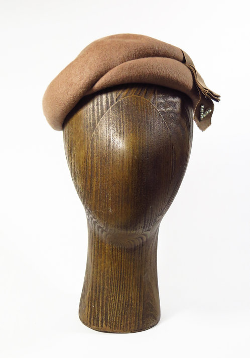 1940s Glenover Beret Hat