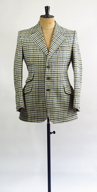 Original Vintage 1960s Mod Style Checked Riding Jacket  M