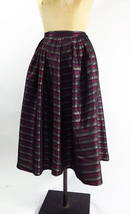 1950s Striped Evening Skirt