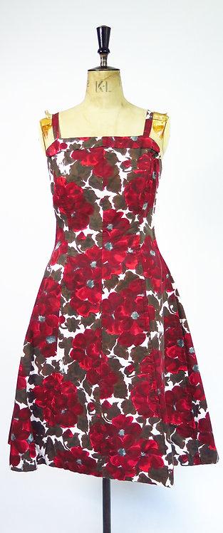 1950s Novelty Print Swing Dress
