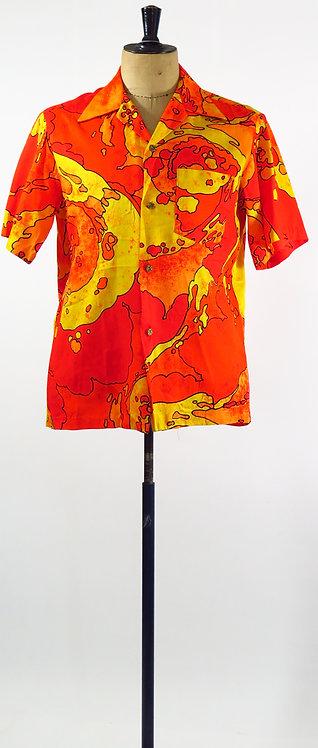 1970s Hawaiian Shirt XL