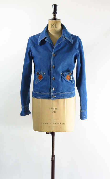 1970s Real West Denim Jacket
