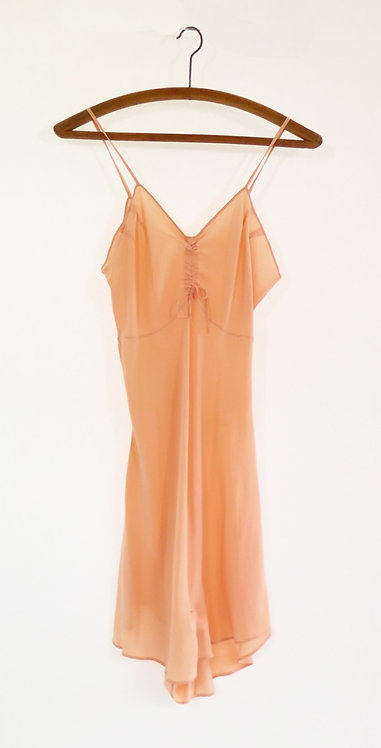 1930s Cantaloupe Silk Hand Made Playsuit Lingerie