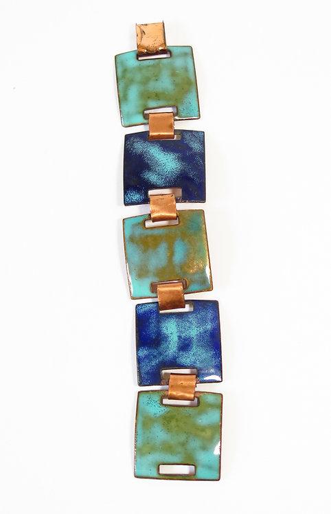 1970s Blue Enamelled Bracelet