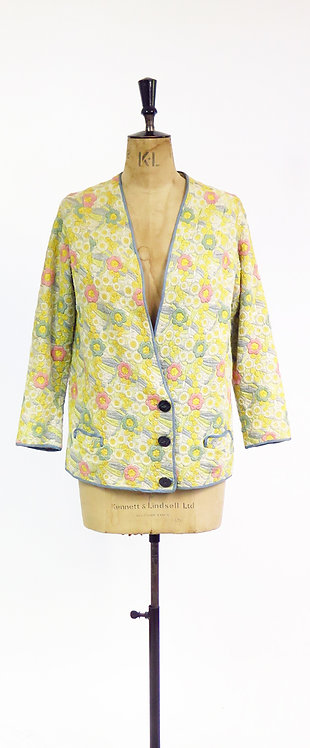1920s Embroidered Duster Jacket