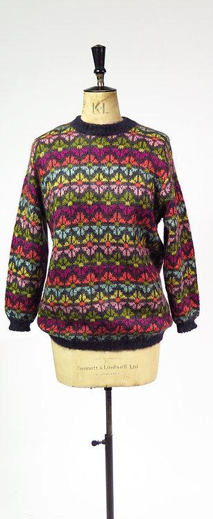 Benetton Mohair Patterned Knitted Jumper