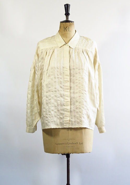 1940s Cream Silk Blouse
