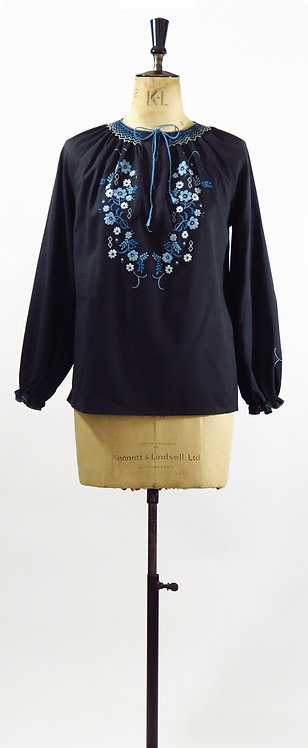 1970s Embroidered Blouse