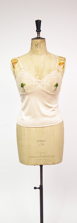 1970s Pink Embroidered Risqué Camisole