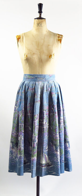 1950s Novelty Print Skirt