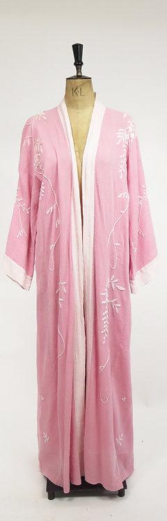 1920s Hand Emroidered Cotton Robe