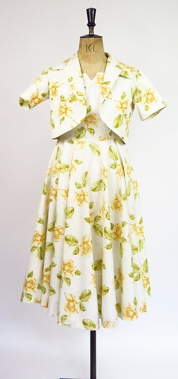 1950s Dress And Jacket Set