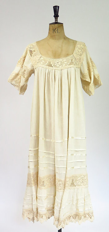 1960-70s Mexican Smock Dress