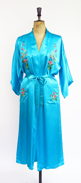 Vintage Embroidered Chinese Robe