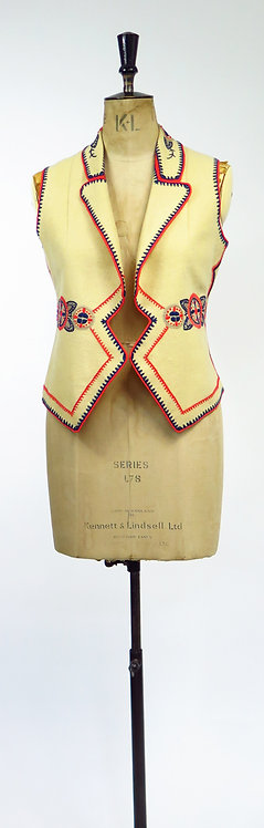 1940-50s Mexican Embroidered Waistcoat