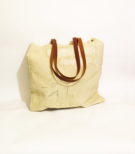 Recycled & Handmade Using 1955 Army Kit Bag Tote Shopper Bag