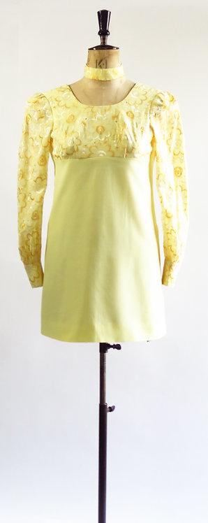 1960s Mini Dress With Choker