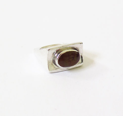 1970s 925 Silver Pearl Ring