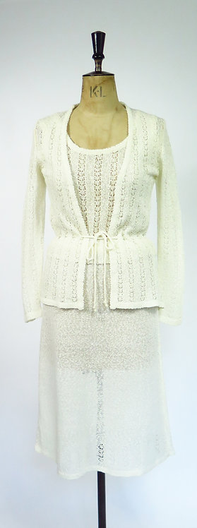 Dreamy 1970s Knitted 3 Piece Suit